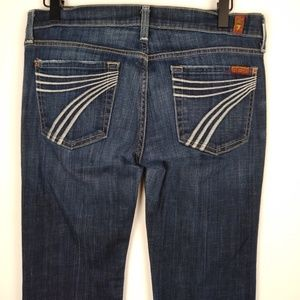 7 For All Mankind Dojo Dark Wash Size 28 Jeans